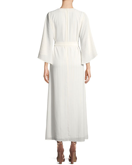 Charlize Wrap-Front Maxi Dress