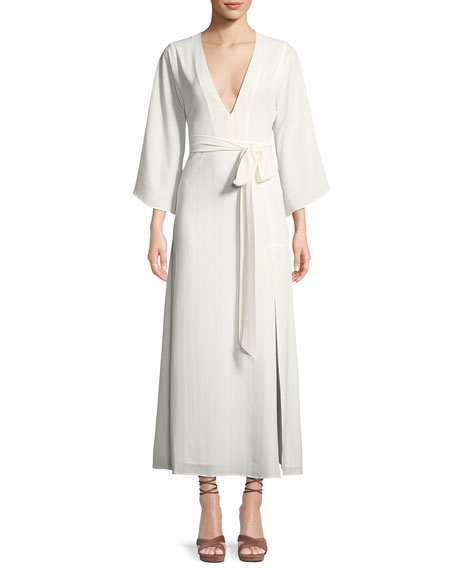 DONNA MIZANI CHARLIZE WRAP-FRONT MAXI DRESS