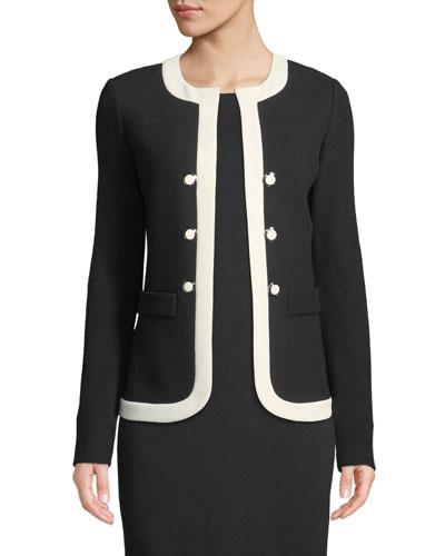 Irina Two-Tone Knit Jacket