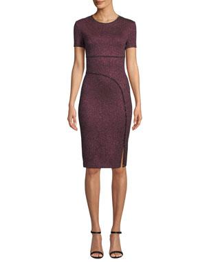 bcdd5abb42e St. John Collection Mod Metallic Knit Body-Con Dress