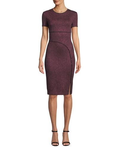Mod Metallic Knit Body-Con Dress