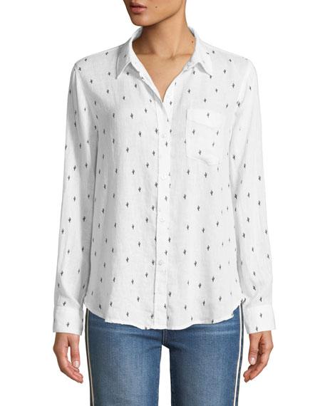 Rails Charli Cactus Button-Down Linen-Blend Shirt