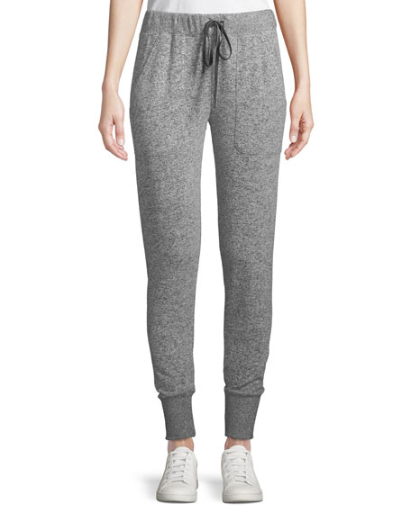 Devon Drawstring Jogger Sweatpants, Gray