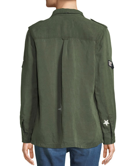 Kato Button-Front Military Shirt w/ Patches