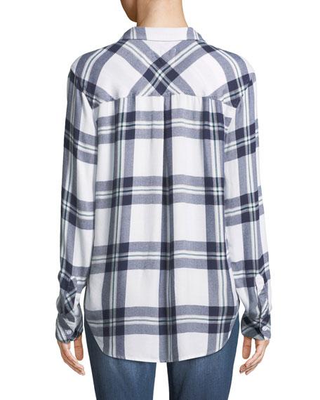 Hunter Plaid Button-Front Long-Sleeve Shirt