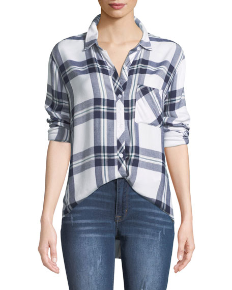 Rails Hunter Plaid Button-Front Long-Sleeve Shirt