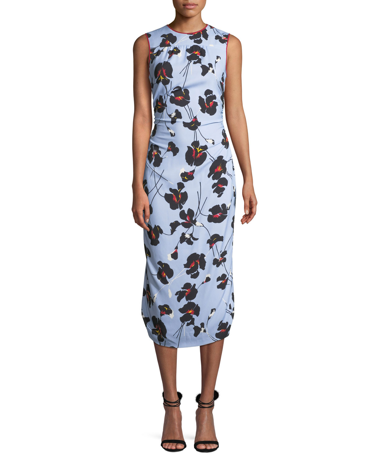 307634cce2b7 No. 21 Floral-Print Sleeveless Midi Dress