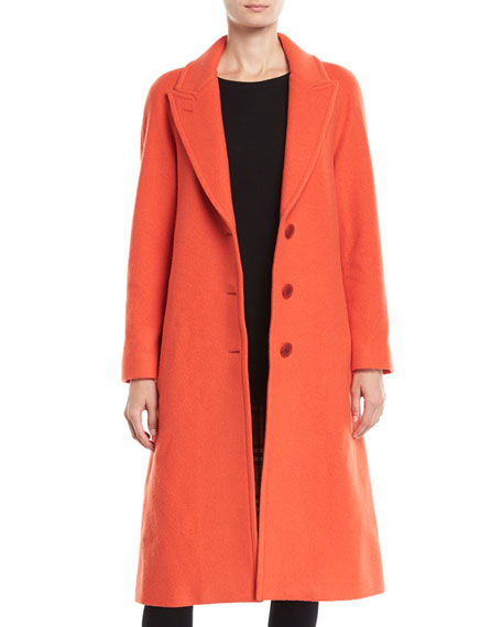 Burberry Ellerton Tailored 3-Button Wool-Blend Coat
