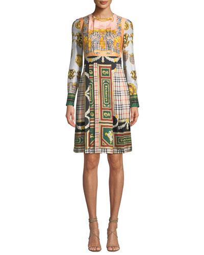 Isidora Archive Scarf-Print Silk Dress