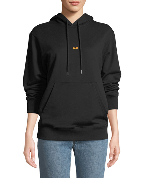 Helmut Lang Taxi Graphic Cotton Pullover Hoodie Sweatshirt