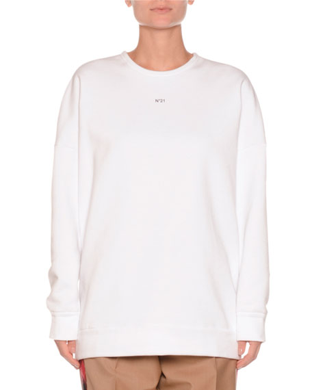 No. 21 Crewneck Sequin-Embroidered Sweatshirt and Matching Items