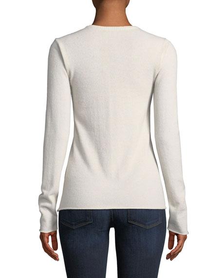 Cashmere Long-Sleeve Crewneck Sweater