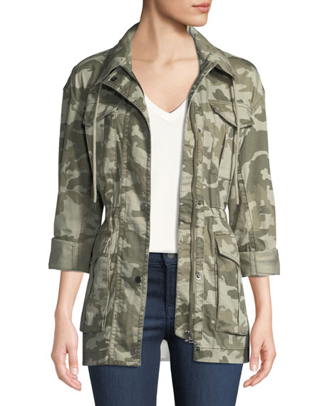 ATM Anthony Thomas Melillo Field Camo Zip-Front Utility