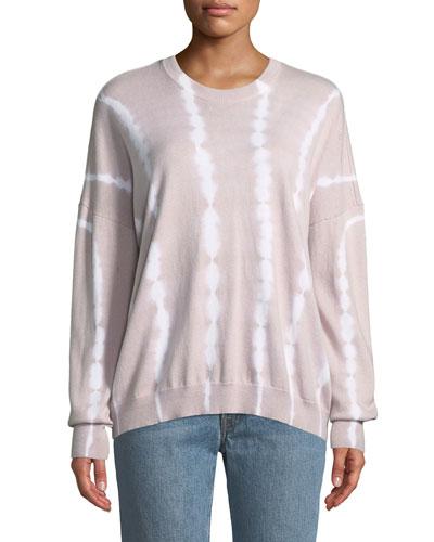 Tie-Dye Cotton-Cashmere Crewneck Sweater