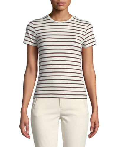 Striped Short-Sleeve Cotton Baby Tee