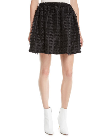 ANAIS JOURDEN TEXTURED SHIMMER MINI SKIRT