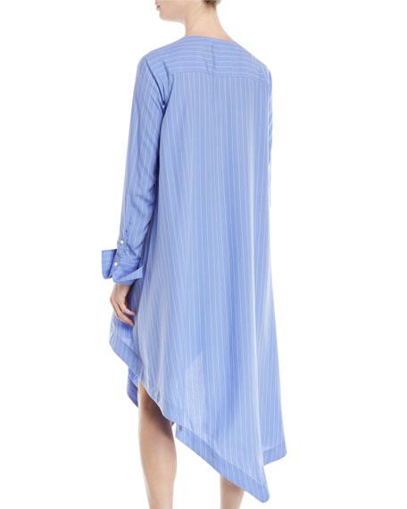 Finale Striped Asymmetric Shirtdress