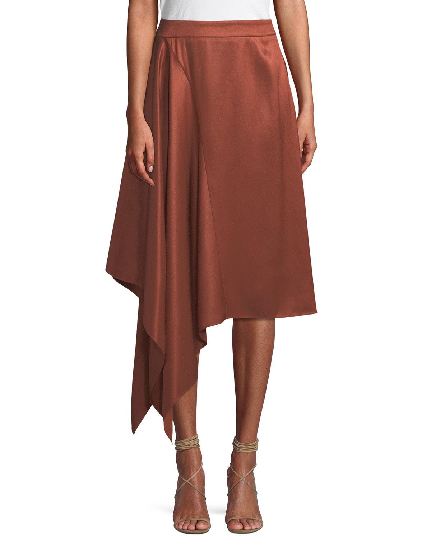 3414e66b8 palmer//harding Squared Draped Asymmetric Twill Skirt | Neiman Marcus