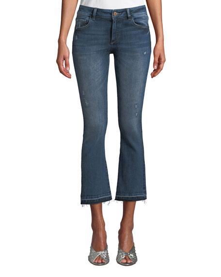 DL1961 Premium Denim Lara Mid-Rise Instasculpt Cropped Jeans