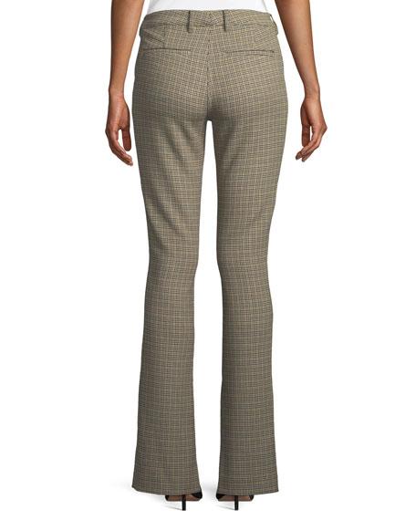 Javier Split Flare-Leg Houndstooth Pants
