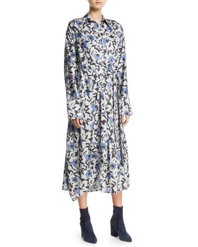 Dabba Floral-Print Button-Front Shirtdress