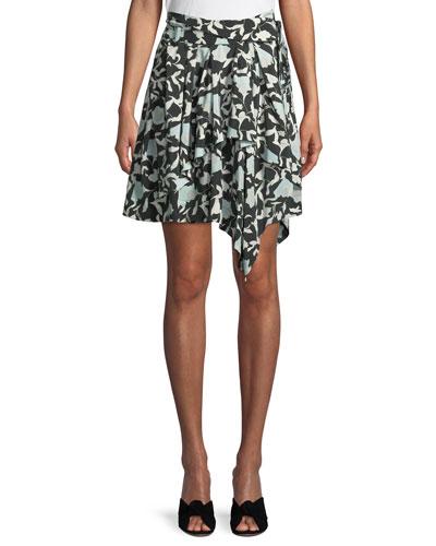 Sadira Floral Embroidered Asymmetric Skirt