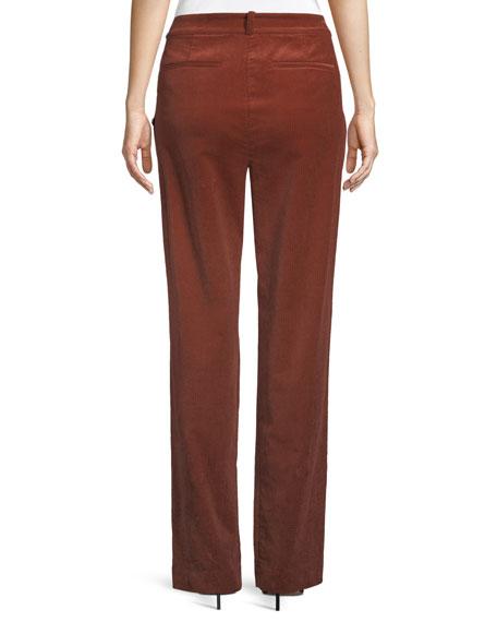 Tori Pleated Corduroy Wide-Leg Pants