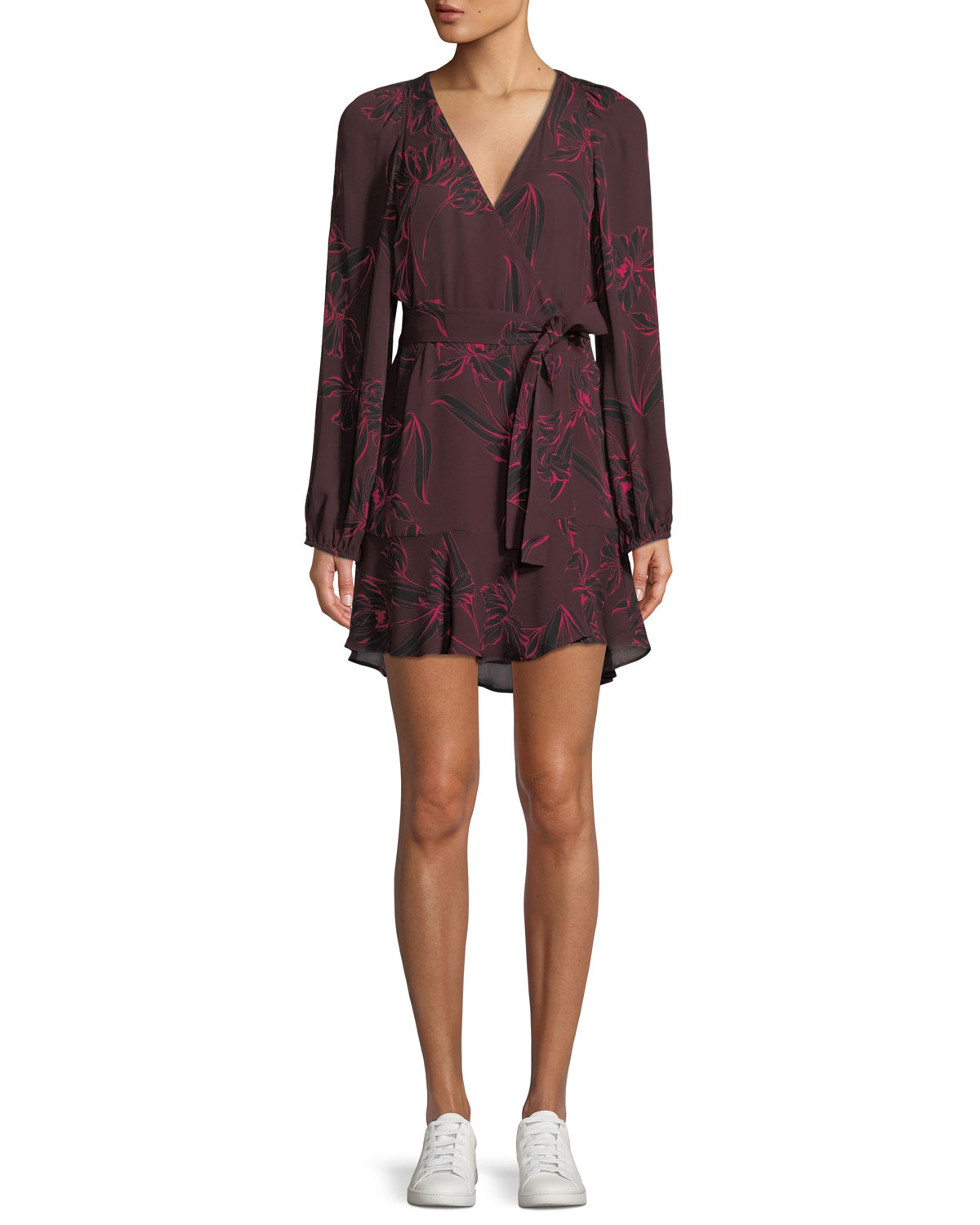 Embry Floral Print Silk Mini Wrap Dress by A.L.C.