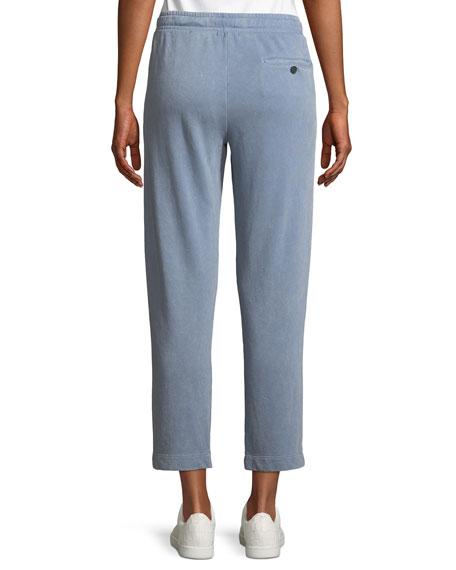 Croma Wash Drawstring-Waist Pull-On Cropped Cotton Pants