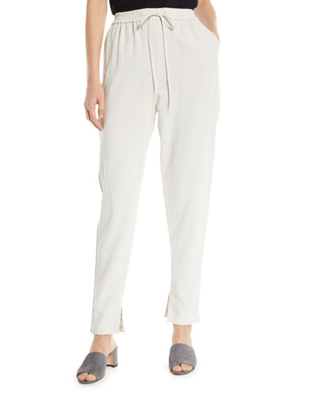 3.1 Phillip Lim Drawstring Split-Hem Suiting Track Pants