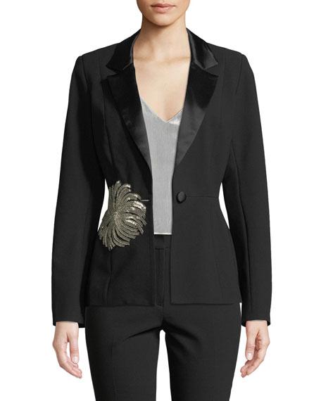 Iman Tuxedo Jacket w/ Embellishment