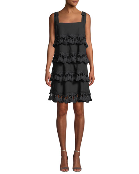 Mestiza New York Palma Tiered Tassel Mini Dress