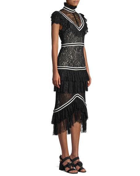 Annetta Pleated Tier Ruffle Dress