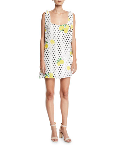 Jen Short Lemons-Print Dress