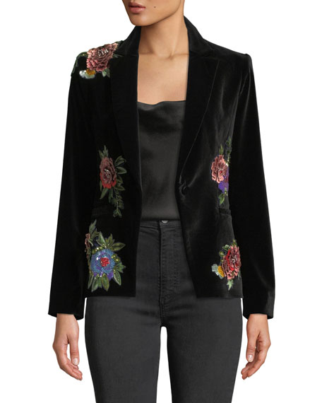 Hix Cross Front Fitted Blazer