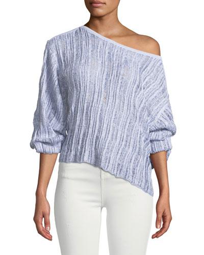 Sierra Madre Blouson-Sleeve Pullover Sweater