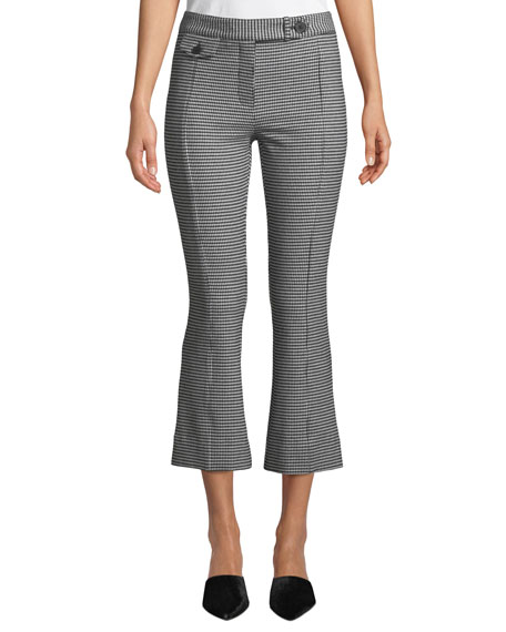 Derek Lam 10 Crosby Cropped Gingham Flare Trousers