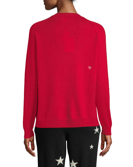 CHINTI & PARKER Wools L'AMOUR WOOL-CASHMERE PULLOVER SWEATER