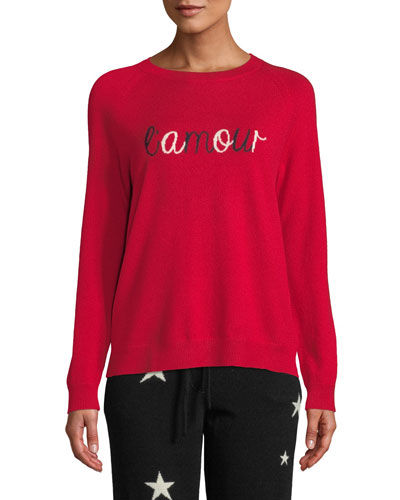 L'Amour Wool-Cashmere Pullover Sweater