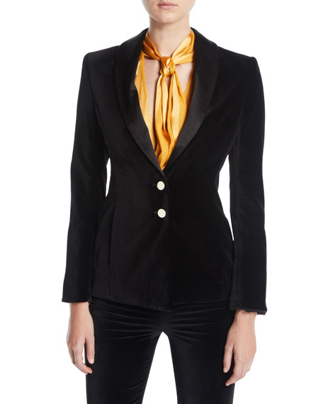 Tana Double-Button Blazer