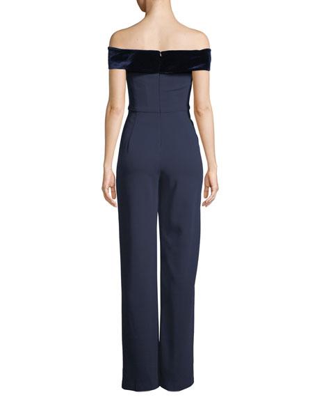 Yoli Colorblock Jumpsuit w/ Velvet Cuff