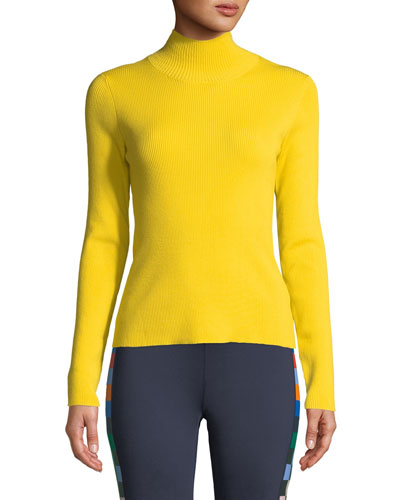 Ribbed Merino Turtleneck Sweater