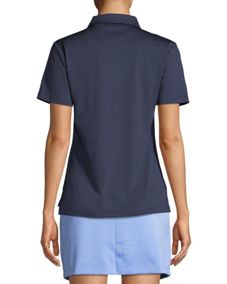 Tech Pique Colorblock Quarter-Zip Activewear Polo