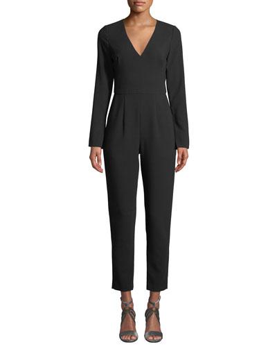 Straight-Leg Jumpsuit w/ Pockets