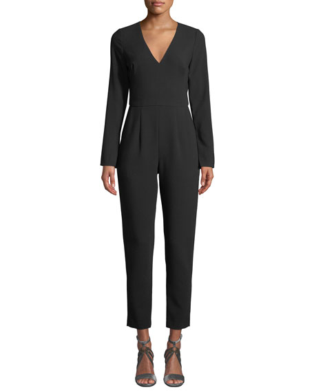 Black Halo Straight-Leg Jumpsuit w/ Pockets