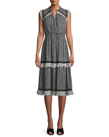 kate spade new york plains ditsy dress w/