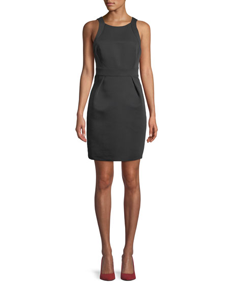 kate spade new york sleeveless bow-back faille dress