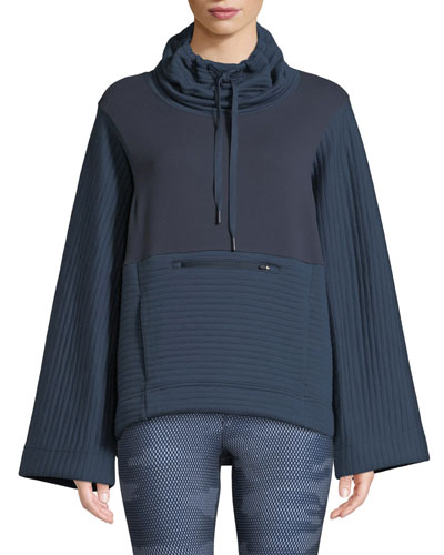 Terra Metro Funnel-Neck Pullover Sweater
