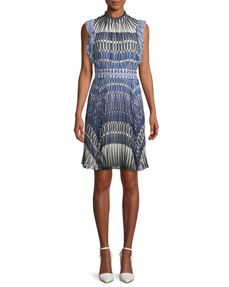kate spade new york stephana deco-print dress w/