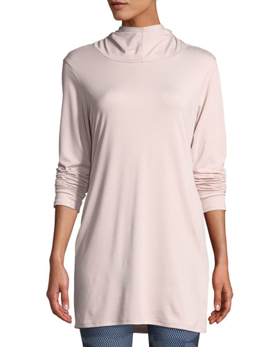 Terra Metro Lone-Sleeve Hooded Tunic